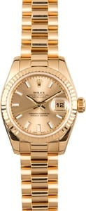 Rolex Ladies President 179178 Champagne Luminescent Dial