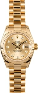 Rolex Ladies President 179178 Diamond Dial