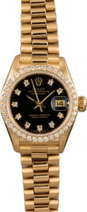 Rolex Ladies President 69138 Diamond Bezel