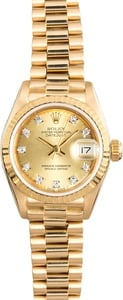 Rolex Ladies President 69138 Diamond Dial