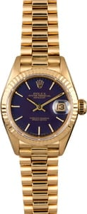 Used Rolex Ladies President 69178 Blue Dial