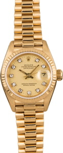 Pre-Owned Rolex Ladies President 69178 Diamond Dial