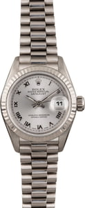 Pre Owned Rolex Ladies President 69179 White Gold