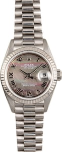 Rolex Ladies President 69179 White Gold