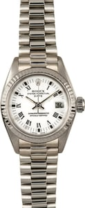 Rolex Ladies President Date 6917 White Gold