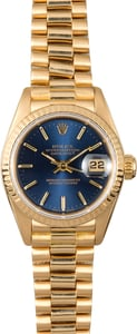 Rolex Ladies Presidential Datejust 69178 Blue