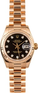 Rolex Ladies Rose Gold President 179175