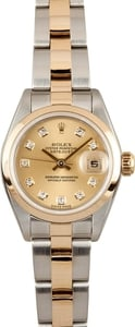 Rolex Two Tone Diamond Dial Datejust 79173