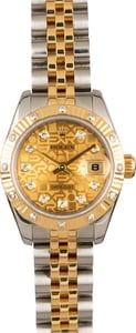 Ladies Rolex Datejust Diamond Dial and Bezel Watch 179313