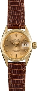 Vintage Rolex Date 6516 Yellow Gold