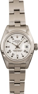 Used Rolex Date 69190 White Roman Dial