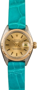 Pre-Owned Rolex Date 6917 Teal Strap