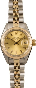 Used Rolex Date 6917 Champagne Index Dial T
