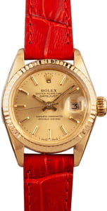 Pre-Owned Rolex Lady-Date 6917 Champagne Dial