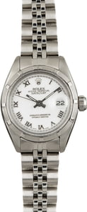 Used Rolex Date 6924 White Roman Dial