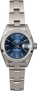 Women's Rolex Date 79160 Blue Index