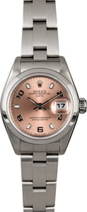 Ladies Rolex Date 79160 Salmon Dial