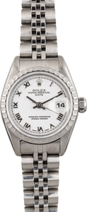 Pre Owned Rolex Lady Date 79240 White Roman