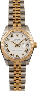 Used Rolex Datejust 178273 White Roman Dial