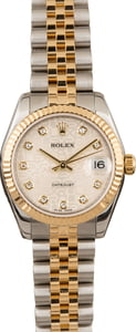 Rolex Mid-Size Datejust 178273 Silver Jubilee Diamond Dial