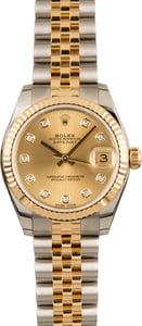 Pre Owned Mid-Size Rolex Datejust 178273 Diamond