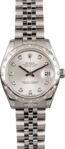 PreOwned Rolex 178344 Datejust 31MM Diamond Dial and Bezel