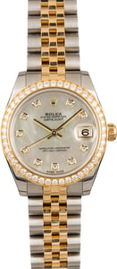 Pre-Owned Rolex Datejust 178383 Diamond Dial and Bezel