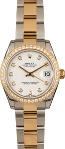 Rolex Mid-Size Datejust 178383 White Diamond Dial