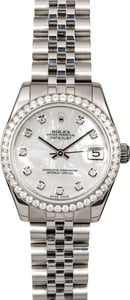 Rolex Datejust 178384 MOP Diamond Dial & Bezel
