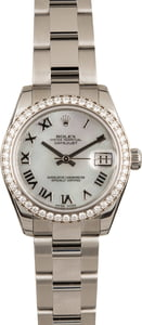 Rolex Diamond Bezel Datejust 178384 Mother of Pearl Dial