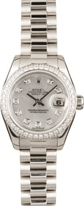 Rolex Ladies President Platinum Diamond 179136