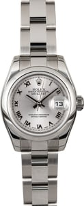 Rolex Ladies Datejust 179160 Rhodium Roman