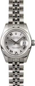 Ladies Rolex Datejust 179160 Rhodium Roman