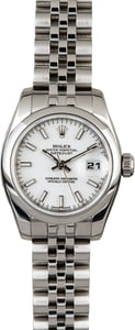 Rolex Ladies Datejust 179160 White Dial