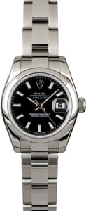 Rolex Lady-Datejust 179160 Black Index Dial