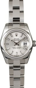 Ladies Rolex Datejust 179160 Silver Dial