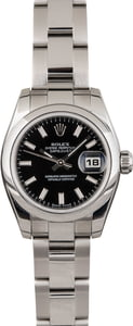 Used Rolex Lady Datejust 179160 Black Index Dial