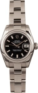 Pre-Owned Rolex Ladies Datejust 179160 Black Dial