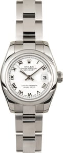 Rolex Ladies Datejust 179160 White Roman Dial