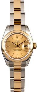 Rolex Lady Datejust 179163 Champagne Index Dial