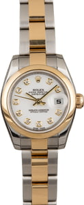 Used Ladies Rolex Datejust 179163 White Diamond Dial