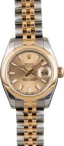Ladeis Rolex Datejust 179163 Two Tone Jubilee