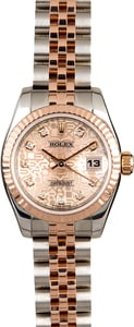 Rolex Lady Datejust 179171 Pink Jubilee Diamond Dial