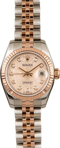 Pre-Owned Rolex Lady Datejust 179171 Pink Jubilee Diamond Dial