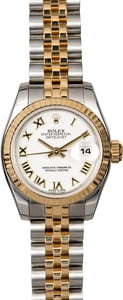 Ladies Rolex Datejust 179173 White Roman Dial