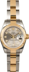 Rolex Ladies Datejust 179173 Rhodium Diamond Dial