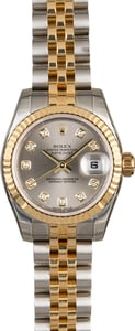Unworn Rolex Lady Datejust 179173 Slate Diamond Dial