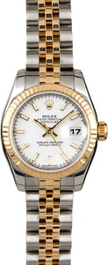 Rolex Lady Datejust 179173 White Dial