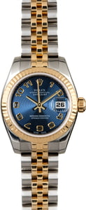 Rolex Lady Datejust 179173 Blue Concentric Dial