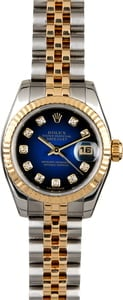 Rolex Lady Datejust 179173 Blue Vignette Diamond